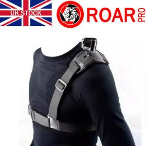 RoarPro Shoulder Mount Strap Harness for All GoPro Hero Cameras