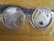.999 fine silver oz GOOD LUCK PONY HORSE    HORSESHOE 2  TROY OZ .