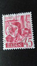 FRANCE 1947 OCCUPATION ALLEMAGNE BADE, timbre 9, BODENSEE oblitéré, VF STAMP