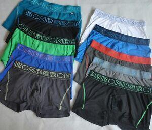 10x BONDS Mens Active Trunk,Underwear, Boxer, Brief,  Cotton Stretch