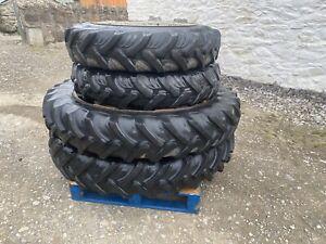 Tractor Row Crop Wheels Rear 12.4 R 46 Front 11.2 R 32 Set of 4