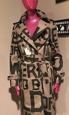 NWT Love Moschino Letter Alphabet Trench Sz (US 6)40