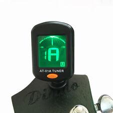 Pantalla LCD Digital guitarras Bajo SINTONIZADOR Clip-on gitarrenstimmgerät 360°