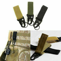 1/3PC Outdoor Tactical Webbing Molle Key Hook Hanging Belt X6B1 Carabiner B M7U9
