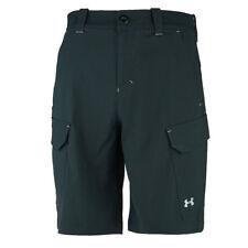 Under Armour Men's UA Fish Hunter Cargo Shorts Black/Grey 30