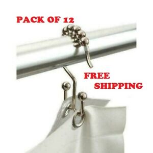 Double Shower Curtains Hooks (12 Pieces) Better Homes&Garden Brand SHIPPING FREE