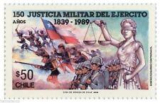 Chile 1989 #1369 150 años Justicia Militar del Ejercito MNH