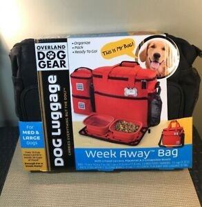 Overland Dog Gear Dog Luggage Week Away Bag - Medium-Large Dogs