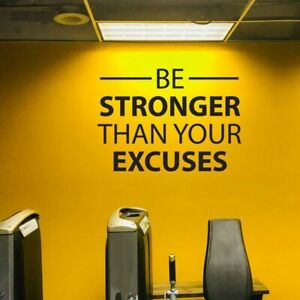 Be Stronger Vinyl Lettering Wall Decals Motivational Gym Fitness Mural Stickers