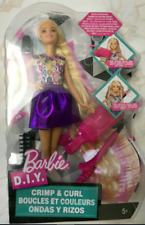 Barbie D.I.Y. Crimp & Curl Doll ~New & Unopened~