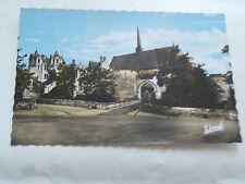 CPM Montreuil-Bellay Enceinte fortifié du Château à l'intérieur l'Eglise
