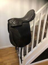 Zaldi Black Leather 18 Inch Endurance Trekking Saddle Medium Wide Width