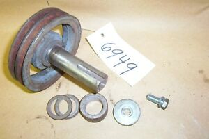 Grasshopper 721D2 Transmission Drive SHAFT 882052 & Double PULLEY 415036