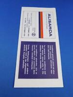 ALISARDA AIRLINE SUMMER TIMETABLE SCHEDULE 1976 ADVERTISING SARDINIA