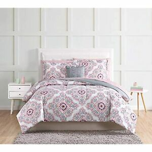 Style 212 Shirley Pink TWIN XL 9 Piece Comforter Set Bed in a Bag