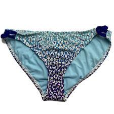Athleta Bikini Bottom Blue Floral Pattern Size Large