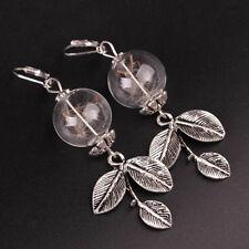 Chic Dandelion Leaves Glass Ball Long Dangle Earrings Women Great Gift For Lover