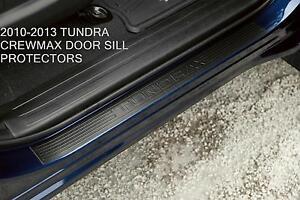 GENUINE TOYOTA OEM 2010-2013 TOYOTA TUNDRA CREW MAX CAB DOOR SILL PROTECTORS