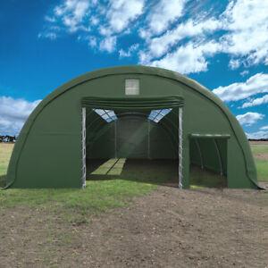 Rundbogenhalle 9,15 x 12 x 4,5 m grün Oberlichter 109,8 m² Lagerhalle Stall NEU