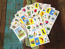 Traditional Mexican Games Classic Loteria Bingo Family night board 20 Players