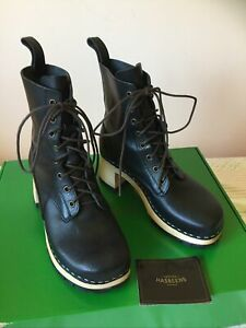 Swedish Hasbeens Nathalie Boots Size 38 NEW IN BOX