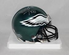 Jordan Hicks Autographed Philadelphia Eagles Mini Helmet- JSA Witnessed Auth
