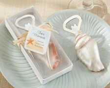50 Seashell Bottle Opener Sand Summer Beach Theme Wedding Favors in Gift Box
