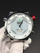 Weide WH-2309 Technical Silver + White LED Time Display Alarm Watch New with Box