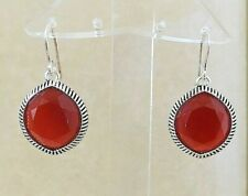 (fall color) Msrp $96 New faceted Carnelian Barse Earrings