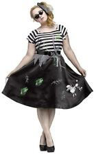 Zombie Sock Hop Halloween Costume 50's Poodle Skirt Skeleton Dog Plus Sz 1X New