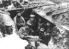 1916 World War 1 Photo-German Soldiers Relaxing in Trench