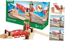 BRIO 33757 Lifting Bridge | Toy Train Accessory with Wooden Track for Kids Age 3
