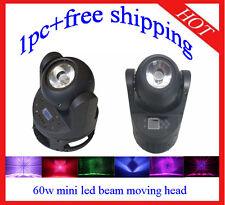 1pc Endless Rotation 60W Led Beam Moving Head Light Stage DJ Light Free Shipping