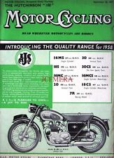 Sep 26 1957 A.J.S 'Model 20 498cc OHV' Motor Cycle ADVERT - Magazine Cover Print