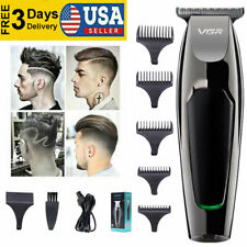 Hot 0mm Electric Hair Clipper Pro T-blade Cordless Trimmer Cutter Salon US RW386