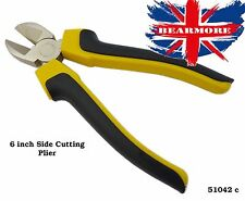 "6"" Soft Grip Side Cutting Pliers Wire Electrician DIY Gardening Hand Tool"