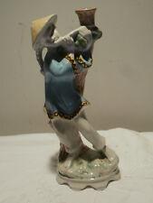 Außergewöhnliche, asiatische Porzellanfigur als Vase Handbemalt made in Italy