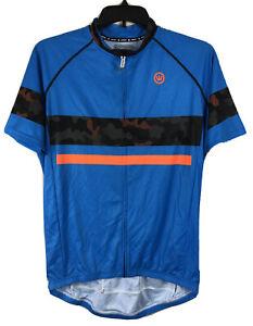 Canari Aero Jersey Camo-Pop Orange Blue Cycling Shirt Men's Large NWT $49