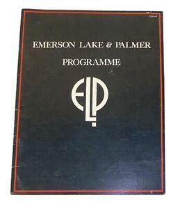 Emerson Lake and Palmer North American Tour Program 1977