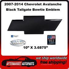 07-14 Chevy Avalanche Black Powder Coat Billet Bowtie Tailgate Emblem AMI 96094K