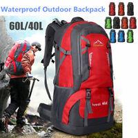 40L/60L Waterproof Outdoor Backpack Athletic Sport School Travel Rucksack Bag US