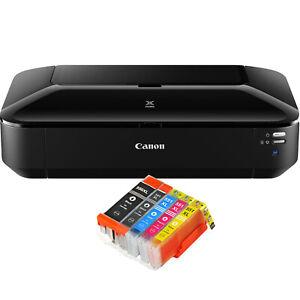 Canon Pixma iX6850 A3 DRUCKER WLAN FOTOS AIR PRINT CLOUD PRINT + 5 XL TINTE NEU