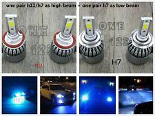H11 / H9+H7 Combo CREE LED Headlight Bulbs Kit High Low Beam 8000K ICE BLUE 55W
