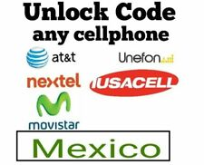 Unlock code At&t Mexico Nextel Iusacell Unefon Samsung Huawei Alcatel ZTE LG