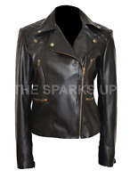 NEW Chloe Decker Lucifer Lauren Quilted Womens Leather Jacket - BEST QUALITY