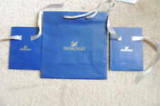"Swarovski ""Empty"" Bags - - Authentic 3 pc 1 large 2 small"