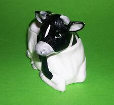 Otagiri Hand Crafted Pottery Japan -  Black & White Cow - Preserve / Sugar Dish.