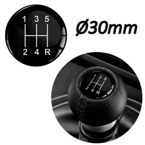 GEAR KNOB SHIFT PATTERN LEVER STICKER 3D EMBLEM STICK BADGE 5 SPEED Ø30mm CAR S2