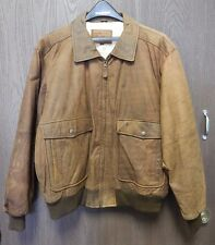 Aberdeen Brown Leather Vintage Flight Bomber Jacket Size 46 Military Rare