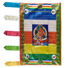 "36"" TIBETAN WIND HORSE PRAYER FLAG: YELLOW JAMBHALA SUTRA BRING ENDLESS FORUTNE="
